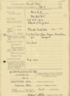 RMC Form 18A Personal Detail Sheets Feb & Sept 1933 Intake - page 153
