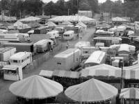 Mitcham Fair: Aerial view of fairground tents