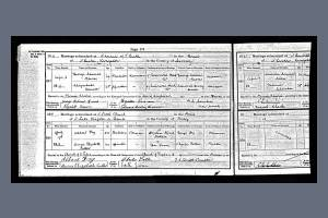Marriage Certificate for Corporal George Reeves and Elizabeth Deacon
