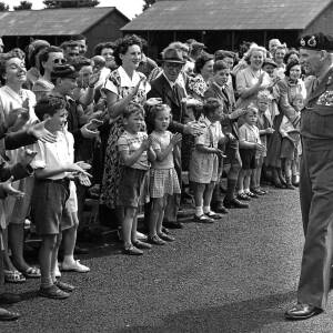 Field Marshal Bernard Montgomery on a local visit.