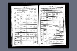 Baptism Record for Rifleman Edward Milton Wilson