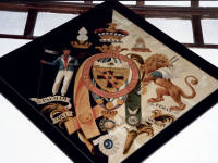 St. Mary's Parish Church, Merton: Nelson's hatchment