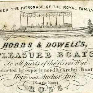 CJS051 Hobbs and Dowell's Pleasure Boats advert, Ross-on-Wye.jpg