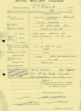 RMC Form 18A Personal Detail Sheets Jan & Aug 1931 Intake - page 7