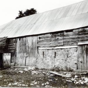 Fownhope, Capler Farm, cruck-built barn, 1931