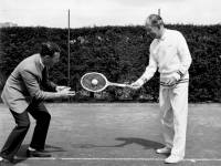 All England Lawn Tennis Club: Dan Maskell (right)