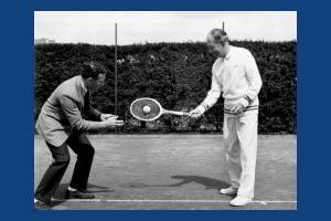 All England Lawn Tennis Club: Dan Maskell (right)
