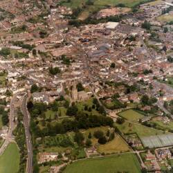 Aerial views of Ross-on-Wye