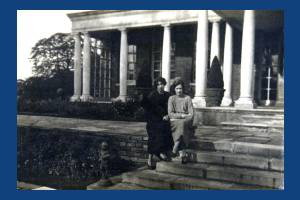 Molly K. Wilson and  and an unidentified companion