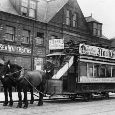 Horse-Drawn Tram at the Pier Head