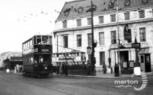 Trams outside Wimbledon Town Hall