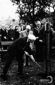 Tree planting ceremony in memory of Miss Jessie Horsburgh M.B.E
