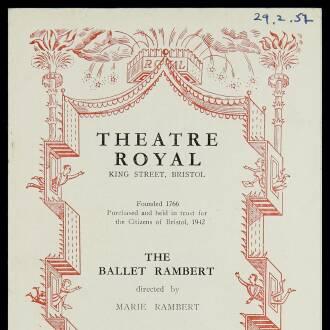Theatre Royal, Bristol, February–March 1952 - P01