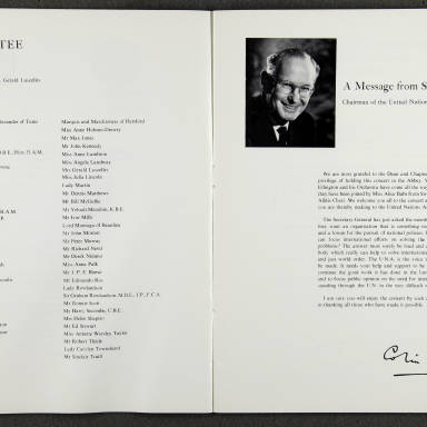 Duke Ellington Orchestra 'Sacred Concert' – Westminster  Abbey 24th   October 1973 007