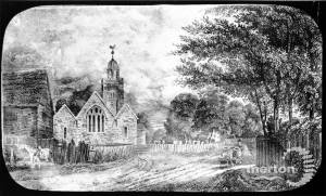 Picture showing Mitcham Parish Church
