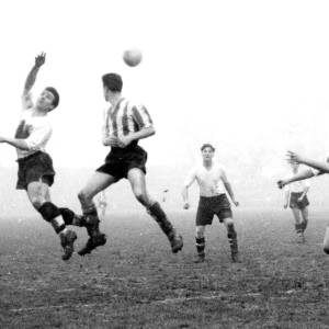 Action from a foggy Edgar Street, 1950s.