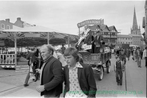 Opening of the May Fair in Hereford in 1975.