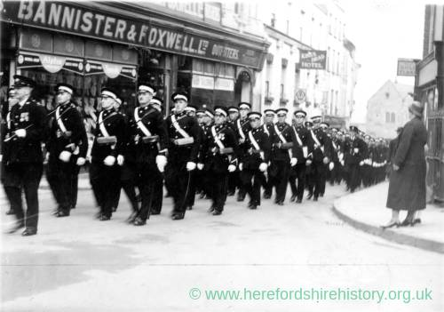 March through Ross High Street, past King's Head Hotel