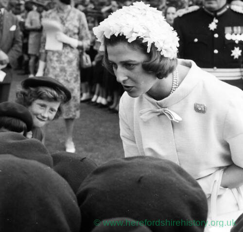061 - Princess Alexandra inspecting guides on castle green