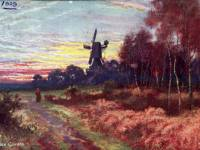 The windmill at sunset, Wimbledon Common
