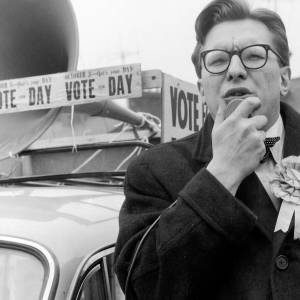 Robin Day, liberal candidate for South Hereford campaigning in April 1959