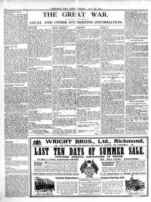 22 JULY 1916