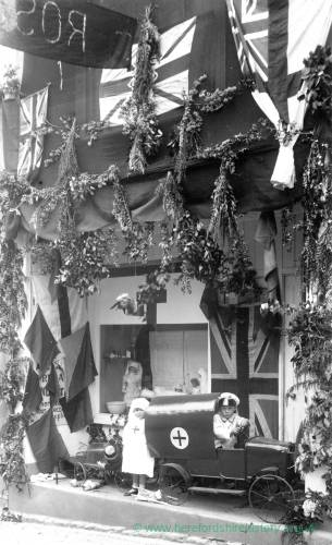 Children dressed up, possibly Jubilee or Coronation Carnival, Ross-on-Wye