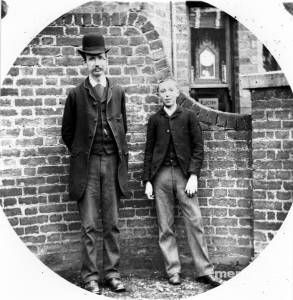 Hudson the watchmaker and his son, George