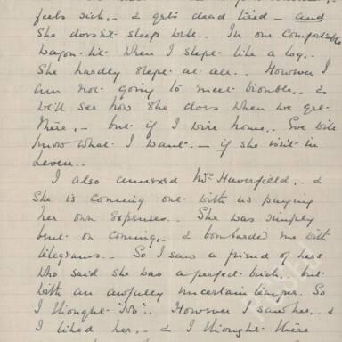 Elsie Inglis to Amy Inglis Simson - En Route to Serbia, April 1915 (Part 2)