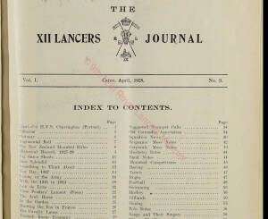12th Lancers, 1928 April