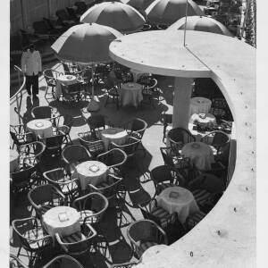 486 - Looking down on outdoor café scene