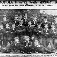 Casey's Court - including the great Charlie Chaplin, appeared at Metropole Theatre, Stanley Road, Bootle, 1906