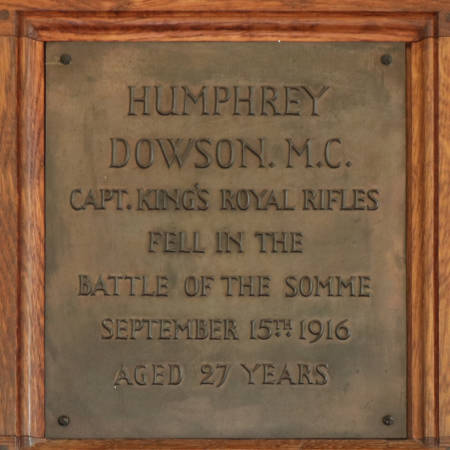 Memorial Plaque - Dowson