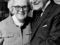 John Emlyn Williams and his wife Olwen of Raymond Road, Wimbledon
