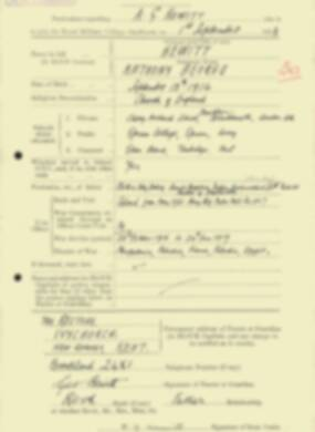 RMC Form 18A Personal Detail Sheets Feb & Sept 1933 Intake - page 215