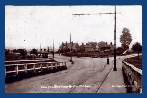 Croydon Road, Mitcham: View from Blue House bridge
