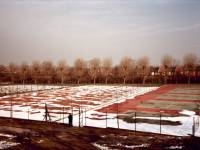 Snow covered tennis courts, Wimbledon Park