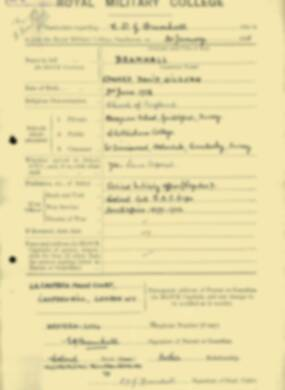 RMC Form 18A Personal Detail Sheets Jan & Aug 1931 Intake - page 16