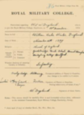 RMC Form 18A Personal Detail Sheets Jan 1915 Intake - page 109
