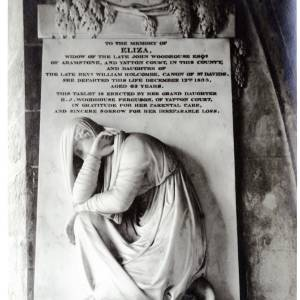 Eliza Woodhouse, memorial in Kings Caple church, Herefordshire