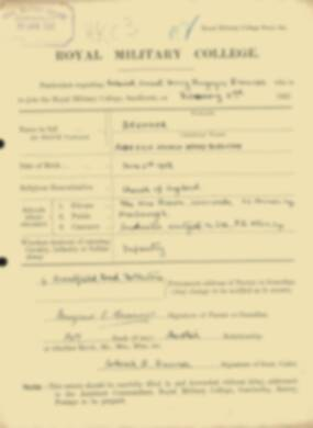RMC Form 18A Personal Detail Sheets Feb & Sept 1922 Intake - page 19