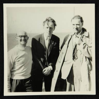 George Webb, Chris Barber and a 'Lobby Ludd (left to right)