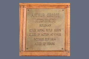 Memorial Plaque - Kitcherside
