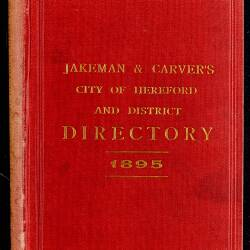 Jakeman and Carver's City of Hereford and District Directory