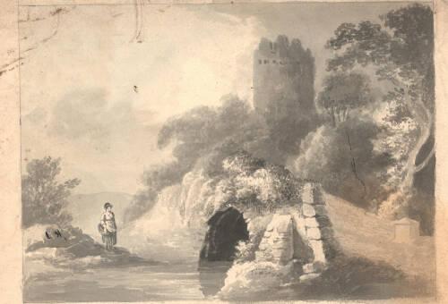 Unknown bridge and castle scene. Image no. 1