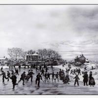 Ice skating, Peter's Slack, Albert Road, Southport