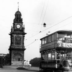 Tram 35 at the Pier Head