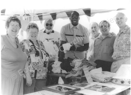 Ecclesfield Parish Councillors at a fund raising event. 1990s