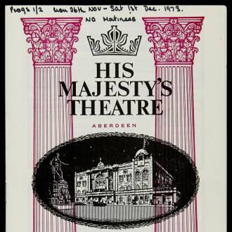 Her Majesty's Theatre, Aberdeen, November–December 1973