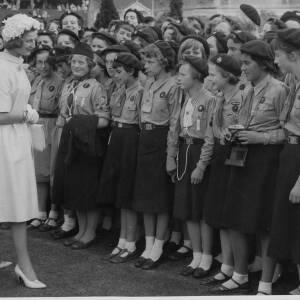 "392 - ""Princess Alexandra talks to Guides"""